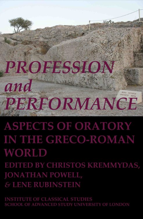 Cover for  Profession and Performance: Aspects of oratory in the Greco-Roman World