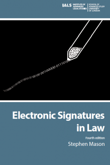 electronic signatures in law fourth edition humanities digital