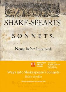 Cover for  Ways into Shakespeare's Sonnets