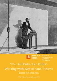 Cover for 'The Dull Duty of an Editor': Working with Webster and Dickens